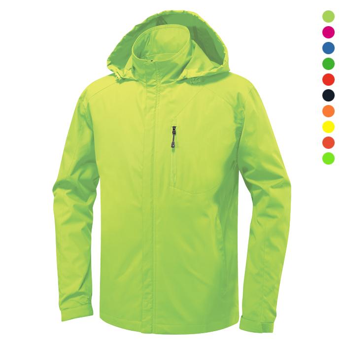 JK160 - 형광연두 바람막이 자켓 [제작 대량 도매 로고 인쇄 레이저 마킹 각인 나염 실크 uv 포장 공장 문의는 네이뽕]