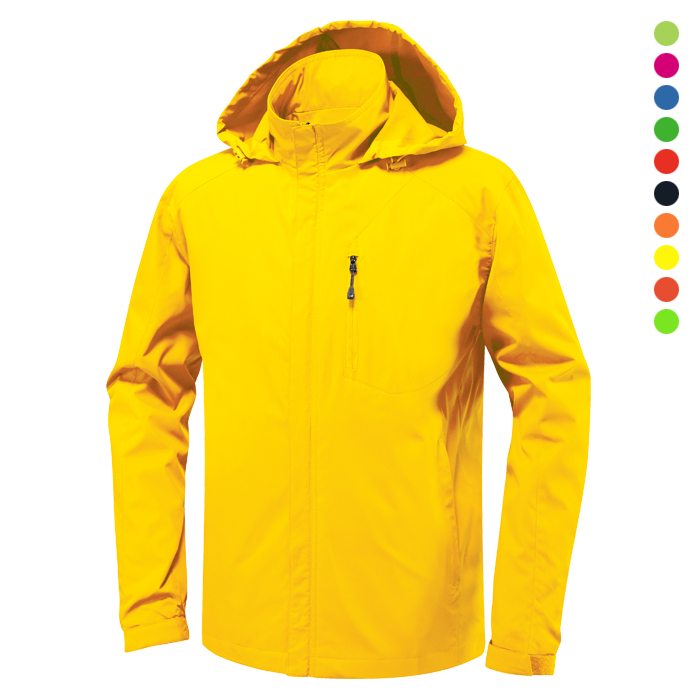 JK160 - 노랑 바람막이 자켓 [제작 대량 도매 로고 인쇄 레이저 마킹 각인 나염 실크 uv 포장 공장 문의는 네이뽕]