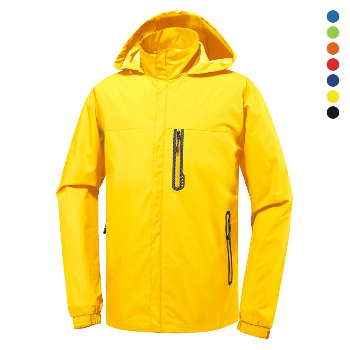 JK150 - 노랑 바람막이 자켓 [제작 대량 도매 로고 인쇄 레이저 마킹 각인 나염 실크 uv 포장 공장 문의는 네이뽕]