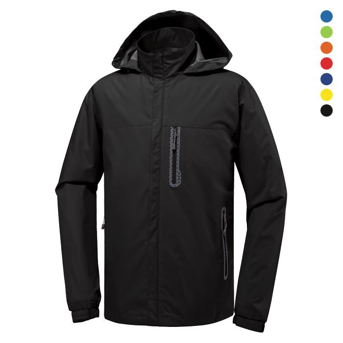 JK150 - 검정 바람막이 자켓 [제작 대량 도매 로고 인쇄 레이저 마킹 각인 나염 실크 uv 포장 공장 문의는 네이뽕]