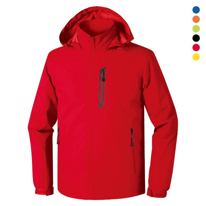 JK155 - 레드 바람막이 자켓 [제작 대량 도매 로고 인쇄 레이저 마킹 각인 나염 실크 uv 포장 공장 문의는 네이뽕]