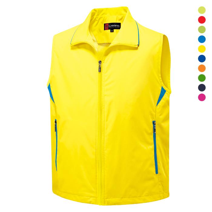 LD600 - 노랑 이벤트 조끼 [제작 대량 도매 로고 인쇄 레이저 마킹 각인 나염 실크 uv 포장 공장 문의는 네이뽕]