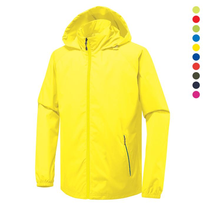JK115 - 노랑 바람막이 자켓 [제작 대량 도매 로고 인쇄 레이저 마킹 각인 나염 실크 uv 포장 공장 문의는 네이뽕]