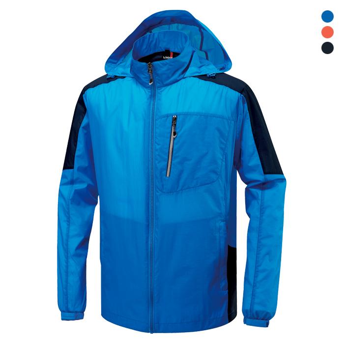 JK725 - 블루 초경량 바람막이 자켓 [제작 대량 도매 로고 인쇄 레이저 마킹 각인 나염 실크 uv 포장 공장 문의는 네이뽕]