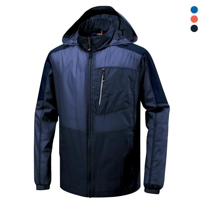 JK725 - 네이비 초경량 바람막이 자켓 [제작 대량 도매 로고 인쇄 레이저 마킹 각인 나염 실크 uv 포장 공장 문의는 네이뽕]