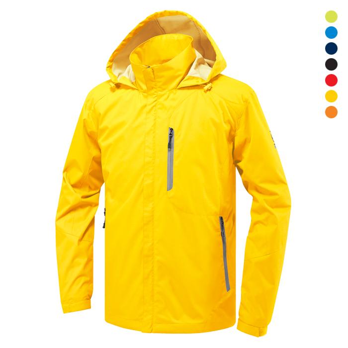 JK180 - 노랑 바람막이 자켓 [제작 대량 도매 로고 인쇄 레이저 마킹 각인 나염 실크 uv 포장 공장 문의는 네이뽕]