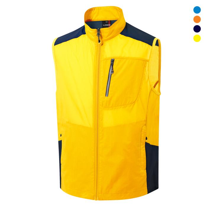 LD715 - 노랑 초경량 레저용 조끼 [제작 대량 도매 로고 인쇄 레이저 마킹 각인 나염 실크 uv 포장 공장 문의는 네이뽕]