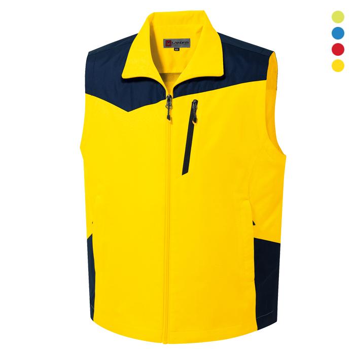 LD755 - 노랑 레저용 조끼 [제작 대량 도매 로고 인쇄 레이저 마킹 각인 나염 실크 uv 포장 공장 문의는 네이뽕]