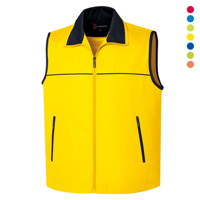 LD625 - 노랑 이벤트 조끼 [제작 대량 도매 로고 인쇄 레이저 마킹 각인 나염 실크 uv 포장 공장 문의는 네이뽕]